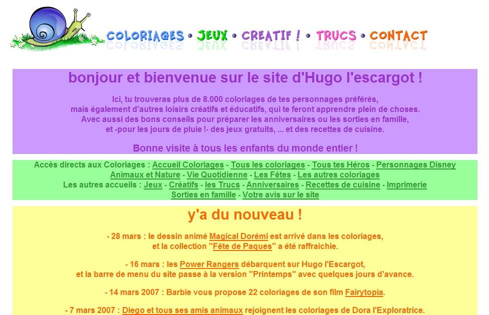 Hugo L Escargot Les Jeux Colorier Les Enfants Marnfozinecom