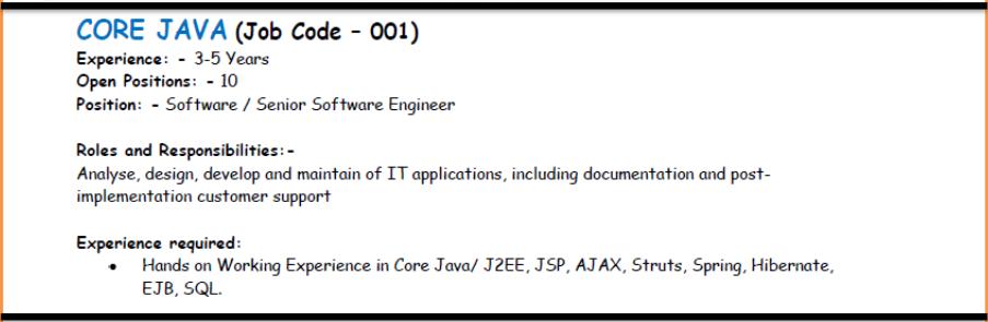 Core Java Jobs - Tavant Technologies,Noida ~ actionbeans