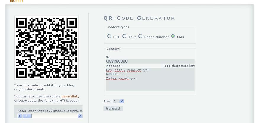 IT News Blog: Cara Membuat kode Barcode untuk Handphone