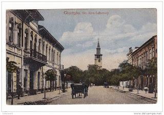 Orașul Giugiu - vedere veche - strada Lahovary