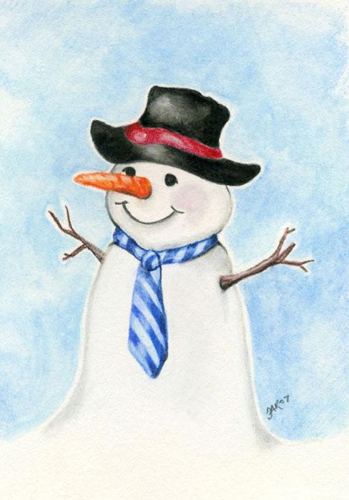 Снеговик почтальон картинка