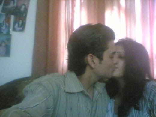Bridal Wear: Pakistani Girl Kissing With Boy Friend