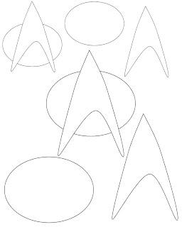 Don't Eat the Paste: Starfleet Badge craft pattern