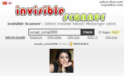 invisible scanner find your invisible friends on yahoo