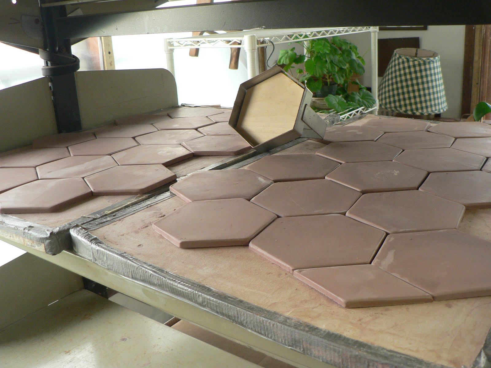 Ann Tubbs Pottery Studio New Hexagonal Tile Cutters Production