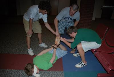 boys tickled