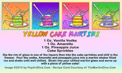 The Martini Diva Yellow Cake Martini Cake Martini Classic