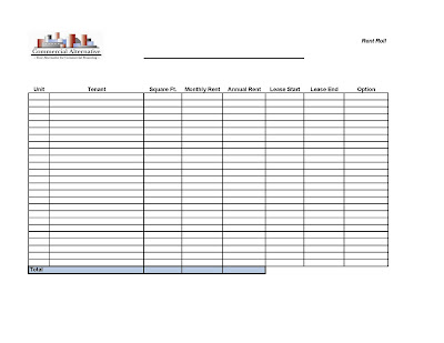 Commercial Alternative May 2010 - rent roll form
