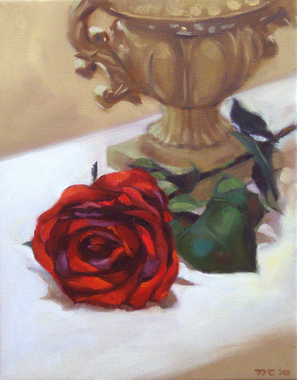 Painting What You See: Red Rose and a Vase
