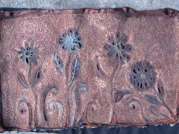 Eiloren Burning Quilt - Textile Art With Heat Gun And