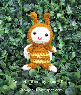 Cute Bonnie Ladybug Doll Crochet Pattern By HavvaDesigns | 320x275