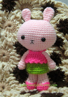 Pinky The Rabbit Amigurumi Crochet Pattern : Pinky the Rabbit - Sayjai Amigurumi Crochet Patterns ~ K ...