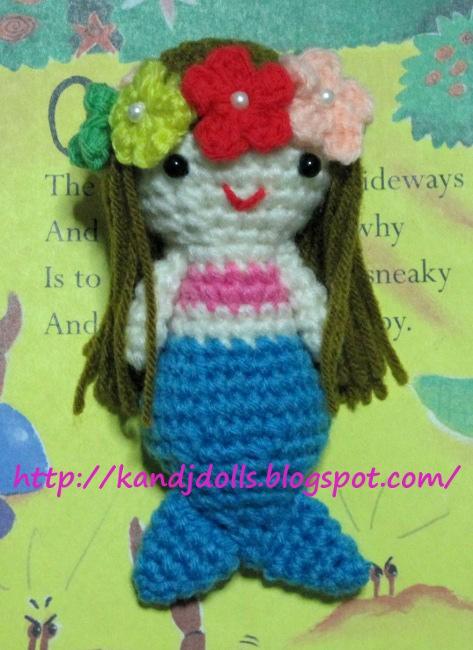 Ariel Doll by Yarn Treasures www.yarntreasures.com | Sirena de ... | 650x473