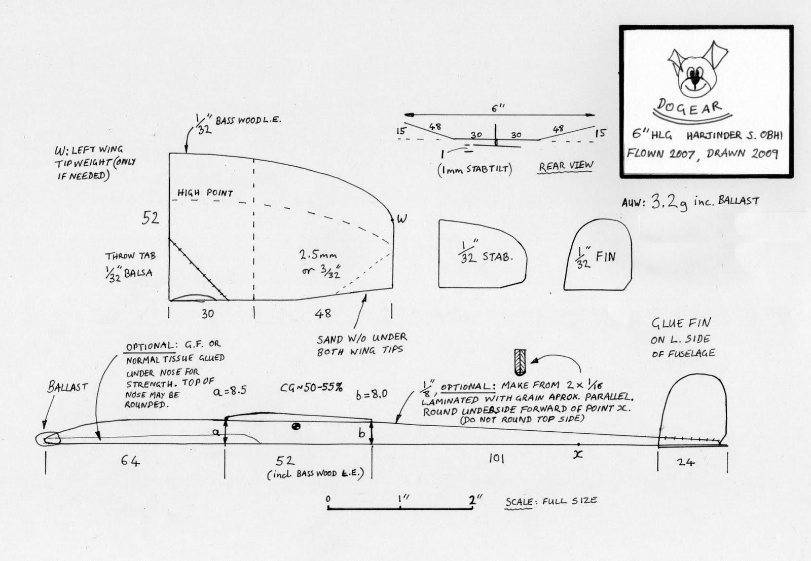 Chuck Glider S Model Aircraft Jotter Free Model Glider Plan Dogear