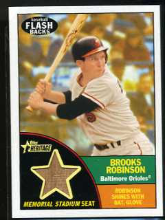 2010 Topps Heritage Brooks Robinson Relic