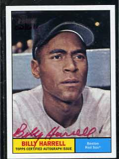 2010 Topps Heritage Billy Harrell Red Auto