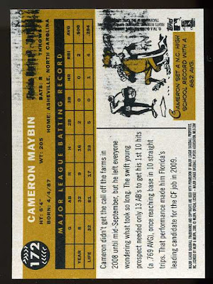 2009 Topps Heritage Card With Ink Stain
