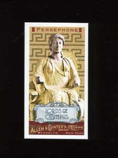 2010 Allen and Ginter Lords of Olympus Persephone