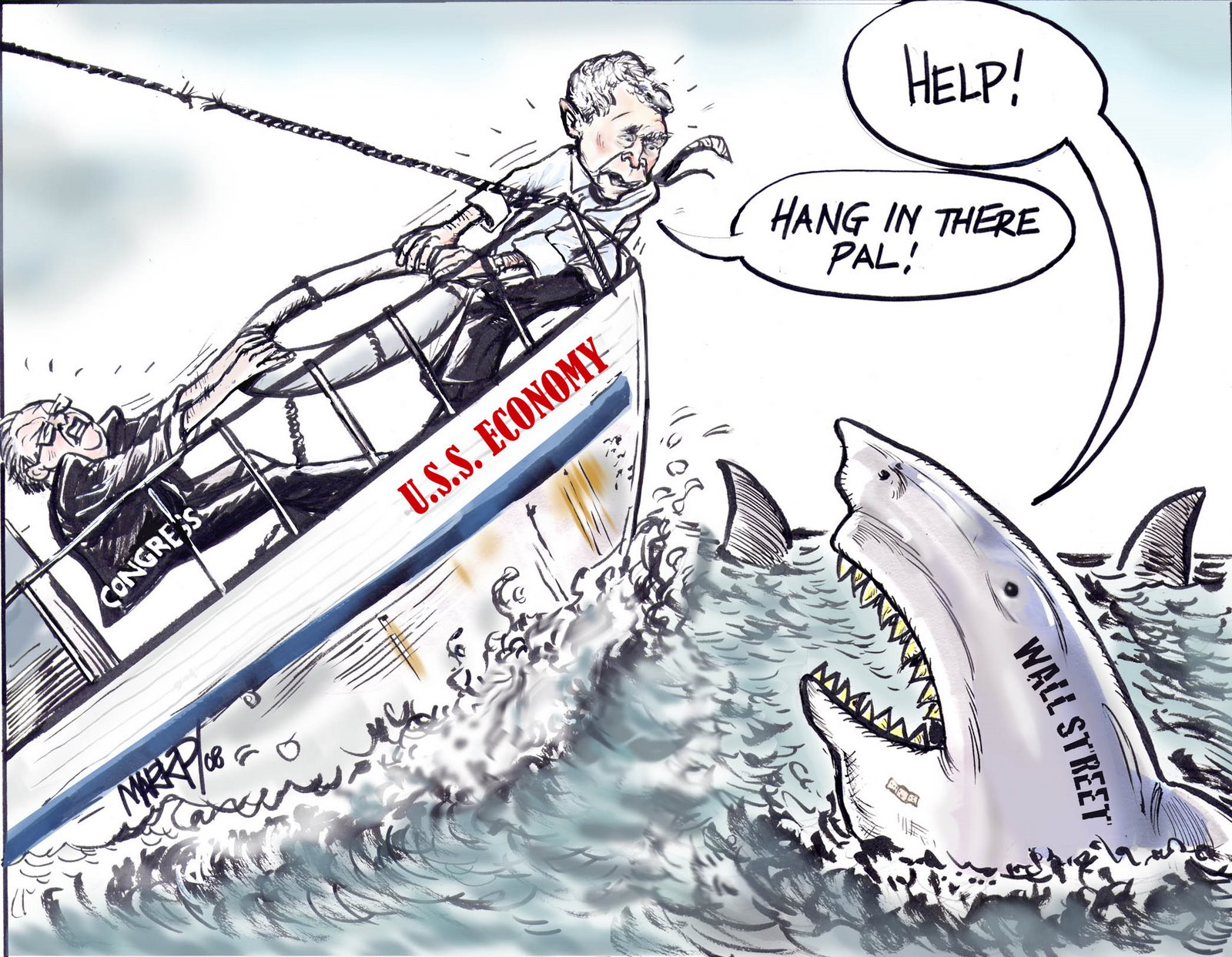 Bailing out the sharks as US economy collapses by Mark Perrault