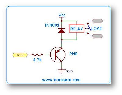 transistör ile röle sürme devresi npn pnp