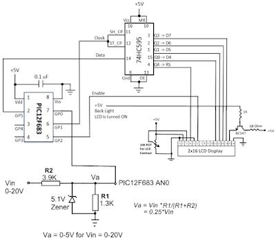 voltmetre devre şeması