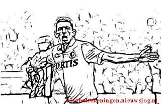 Kleurplaat Feyenoord Vitesse