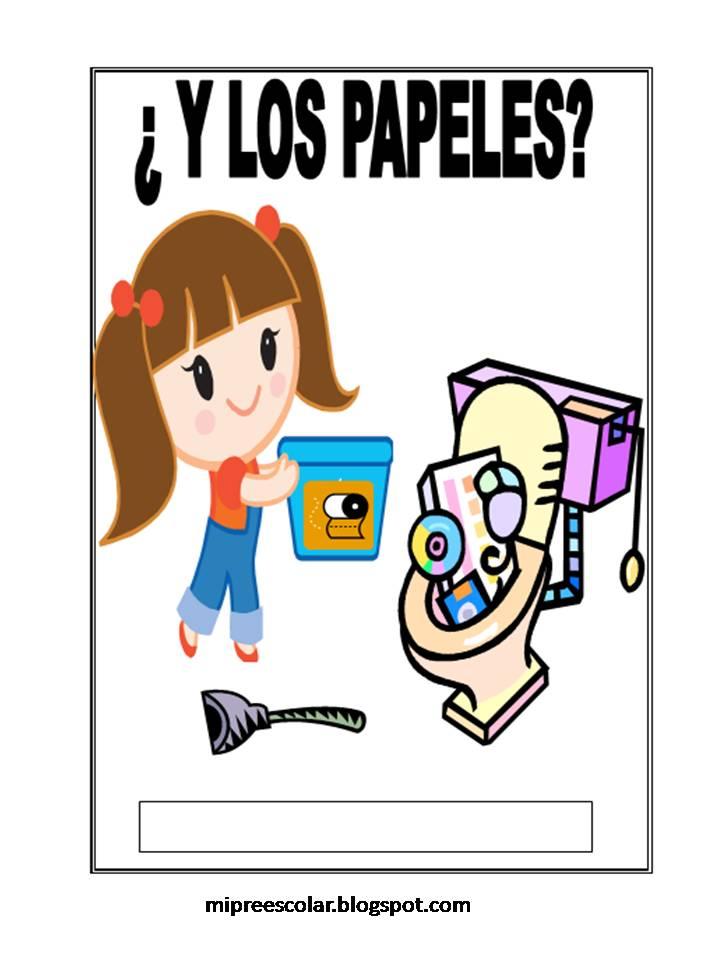 Mi Preescolar Letreros Para La Campa A Por Un Colegio Limpio