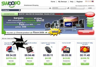 Swoopo/Telebid Auctions Script
