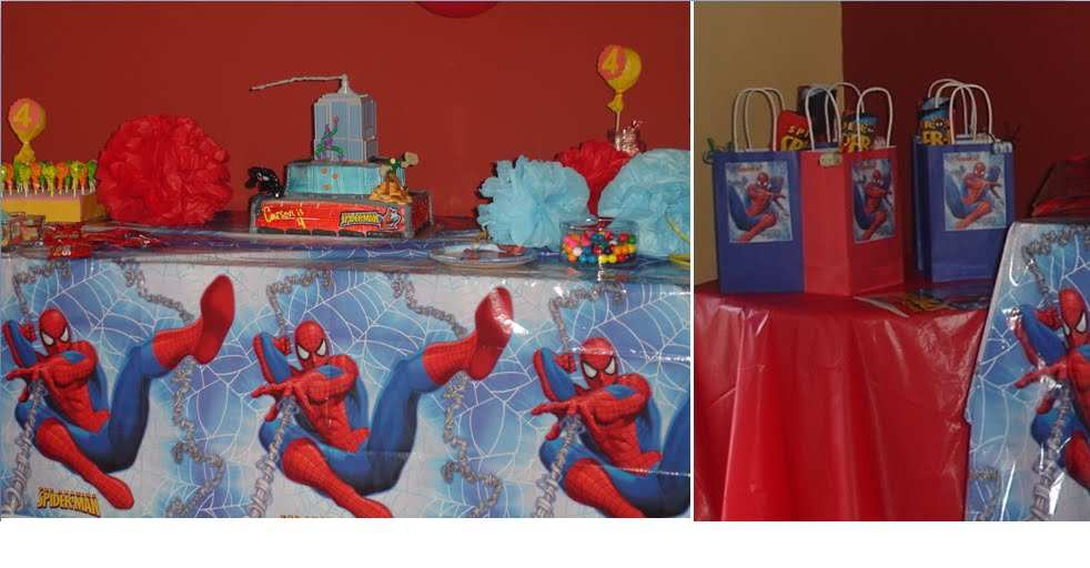 Simplyiced Party Details Spiderman 4th Birthday