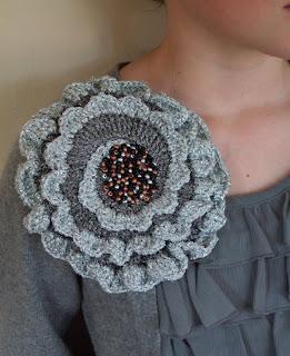 Knit Crochet Design Giant Corsage