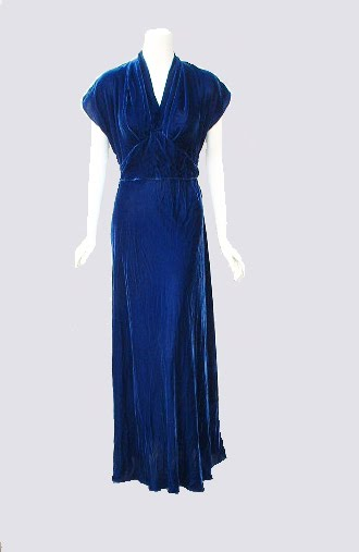 I Made The Trip To Her Home And Was Ever Surprised It A Glamorous Blue Velvet Gown Owner Knew Date Of Wedding Jan 22 1938