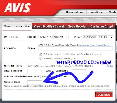 Avis coupon codes