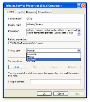 Indexing Service Xp Embedded