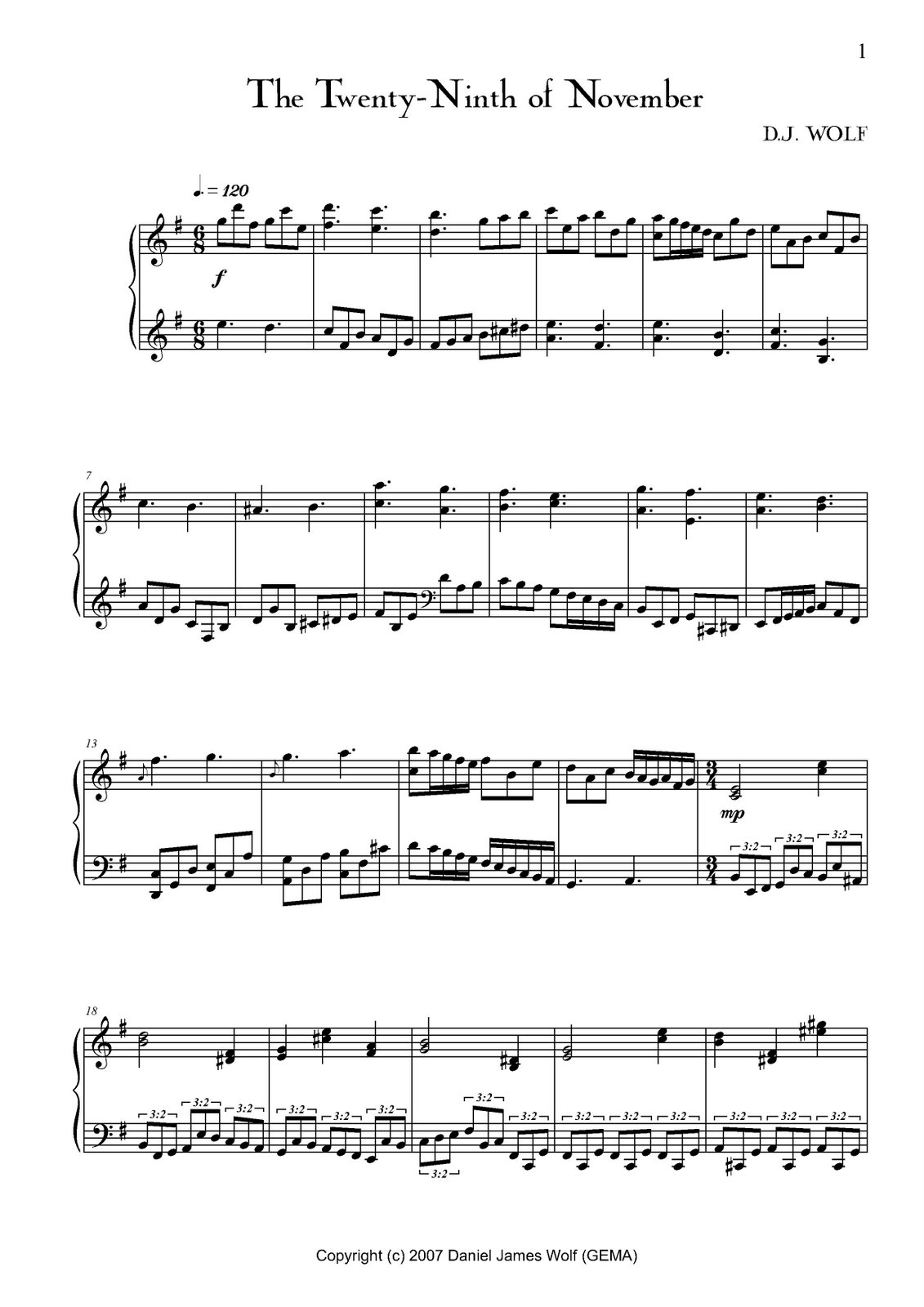 Piano Sheet Music For Love Song By Tesla