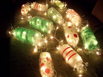 Go Green Art Peppermint Christmas Garland