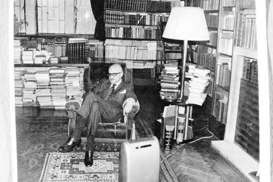 Bibliofilen i sitt bibliotek