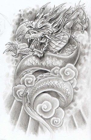 Flower Tattoo Designs Dragon Tattoo