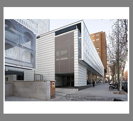 Arquitecturaenimagen rafael de la hoz arquitecto architect edificio de oficinas y biblioteca - Listado arquitectos madrid ...