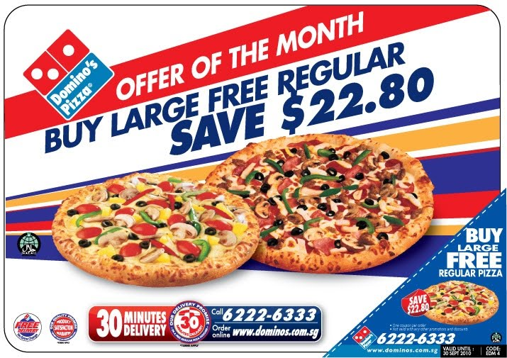 Use the available discount codes below for Domino's pizza deals to save on a Dominos large pizza, pasta and more! For more savings, check out our Domino's gift card deals. Domino's Hotspots: Domino's can deliver to select popular spots such as parks, beaches and more.