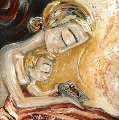 motherhood painting: Quiet Study