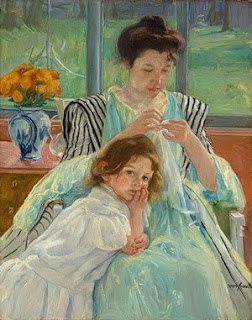 Hello Mama! Painting Progress ~ Mary Cassatt: one of my very favorites