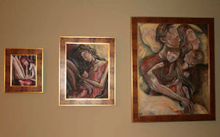 Artwork in Collectors' homes ~ Paintings Doing their Job!