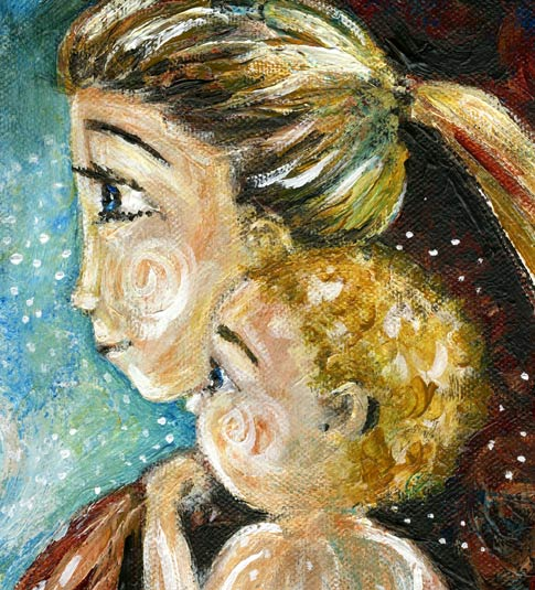 Love Each Other When Two Souls: Painting Intimate Moments Of Motherhood: June 2010