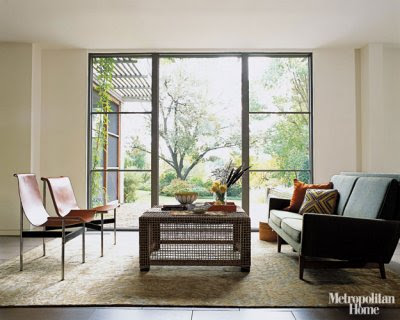 Example of a huge minimalist living room design in San Francisco with white  walls