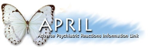 Millie Kieve's Adverse Psychiatric Reactions APRILcharity blog