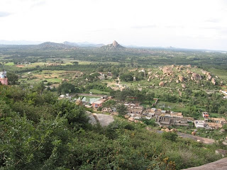Birds view of the Shivagange Town