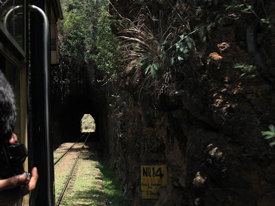 Train Entering a tunnel