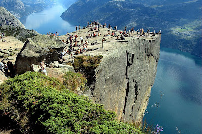 Preikestolen Or Prekestolen Also Known By The English Translations Of Preachers Pulpit Rock And Old Local Name Hyvlatonna Is A Massive