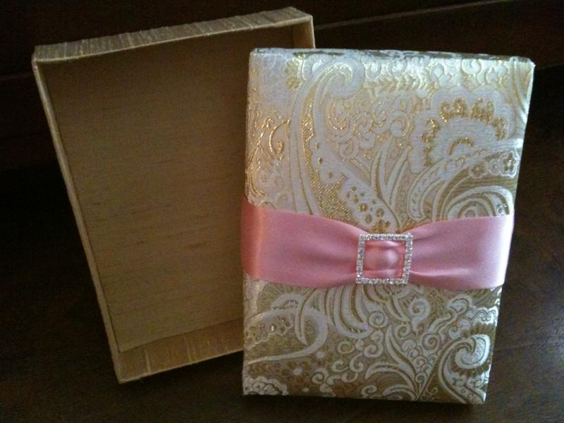 Boxed Wedding Invitations Wholesale: Revelry Invitation Studio Chatter: Silk And Satin Brocade