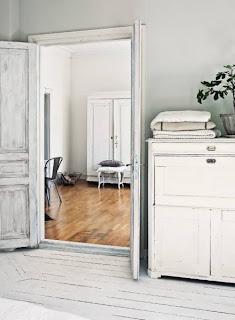 suelos de madera blanca lamas decoración en blanco